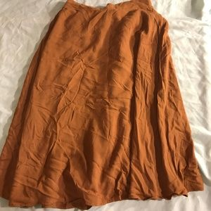 midi skirt, elastic waistband